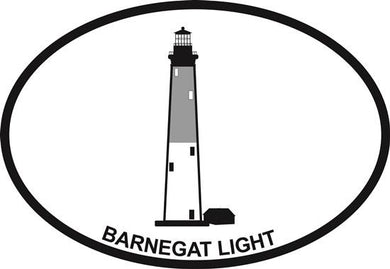 Barnegat Light decal from Oval Envy.  Great price for a durable vinyl decal.  We've got animals, beaches, dogs, cats and more!  Search our catalog for your next Euro Oval Decal.