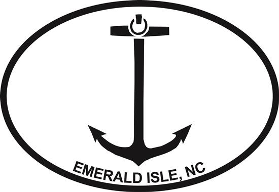 Anchor (EI, NC) decal from Oval Envy.  Great price for a durable vinyl decal.  We've got animals, beaches, dogs, cats and more!  Search our catalog for your next Euro Oval Decal.