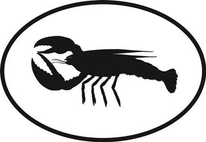Lobster decal from Oval Envy.  Great price for a durable vinyl decal.  We've got animals, beaches, dogs, cats and more!  Search our catalog for your next Euro Oval Decal.