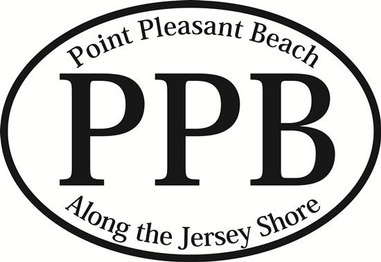 Point Pleasant Beach decal from Oval Envy.  Great price for a durable vinyl decal.  We've got animals, beaches, dogs, cats and more!  Search our catalog for your next Euro Oval Decal.