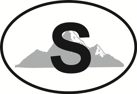 Steamboat Springs decal from Oval Envy.  Great price for a durable vinyl decal.  We've got animals, beaches, dogs, cats and more!  Search our catalog for your next Euro Oval Decal.