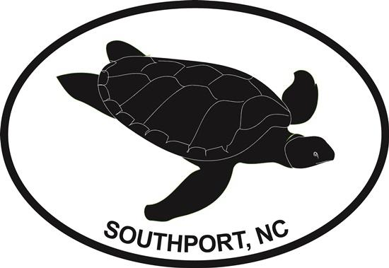 Southport Turtle decal from Oval Envy.  Great price for a durable vinyl decal.  We've got animals, beaches, dogs, cats and more!  Search our catalog for your next Euro Oval Decal.