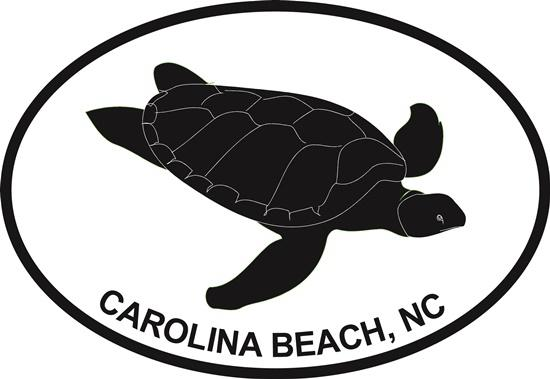 Turtle (Carolina Beach) decal from Oval Envy.  Great price for a durable vinyl decal.  We've got animals, beaches, dogs, cats and more!  Search our catalog for your next Euro Oval Decal.