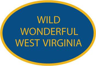 Wild Wonderful West Virginia decal from Oval Envy.  Great price for a durable vinyl decal.  We've got animals, beaches, dogs, cats and more!  Search our catalog for your next Euro Oval Decal.