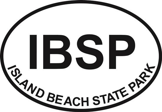 Island Beach SP decal from Oval Envy.  Great price for a durable vinyl decal.  We've got animals, beaches, dogs, cats and more!  Search our catalog for your next Euro Oval Decal.
