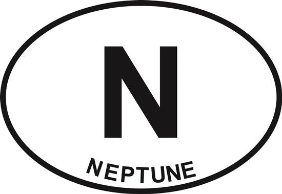 Neptune decal from Oval Envy.  Great price for a durable vinyl decal.  We've got animals, beaches, dogs, cats and more!  Search our catalog for your next Euro Oval Decal.