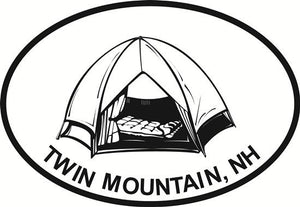 Twin Mountain, NH decal from Oval Envy.  Great price for a durable vinyl decal.  We've got animals, beaches, dogs, cats and more!  Search our catalog for your next Euro Oval Decal.