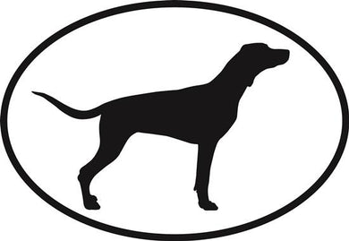 Fox Hound decal from Oval Envy.  Great price for a durable vinyl decal.  We've got animals, beaches, dogs, cats and more!  Search our catalog for your next Euro Oval Decal.