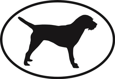 Border Terrier decal from Oval Envy.  Great price for a durable vinyl decal.  We've got animals, beaches, dogs, cats and more!  Search our catalog for your next Euro Oval Decal.