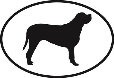 Mastiff decal from Oval Envy.  Great price for a durable vinyl decal.  We've got animals, beaches, dogs, cats and more!  Search our catalog for your next Euro Oval Decal.