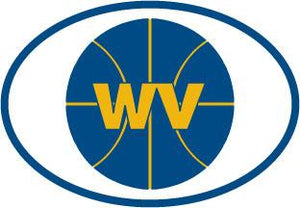 West Virginia Basketball decal from Oval Envy.  Great price for a durable vinyl decal.  We've got animals, beaches, dogs, cats and more!  Search our catalog for your next Euro Oval Decal.
