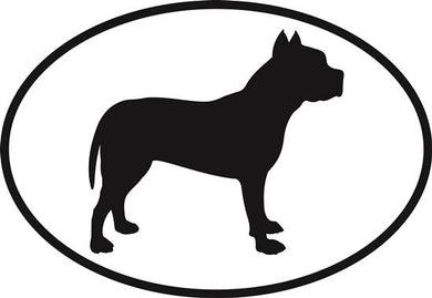 Pit Bull decal from Oval Envy.  Great price for a durable vinyl decal.  We've got animals, beaches, dogs, cats and more!  Search our catalog for your next Euro Oval Decal.