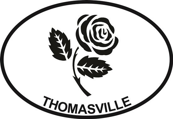 Rose (Thomasville) decal from Oval Envy.  Great price for a durable vinyl decal.  We've got animals, beaches, dogs, cats and more!  Search our catalog for your next Euro Oval Decal.