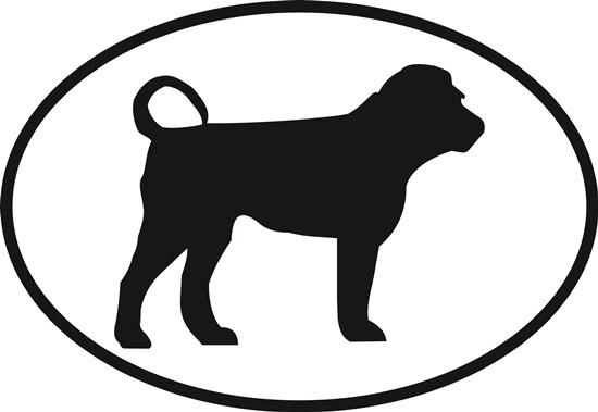 Shar Pei decal from Oval Envy.  Great price for a durable vinyl decal.  We've got animals, beaches, dogs, cats and more!  Search our catalog for your next Euro Oval Decal.