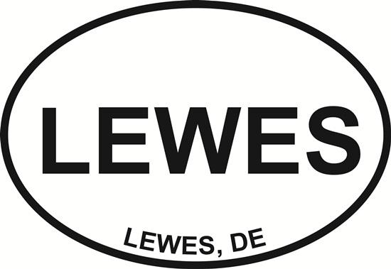Lewes decal from Oval Envy.  Great price for a durable vinyl decal.  We've got animals, beaches, dogs, cats and more!  Search our catalog for your next Euro Oval Decal.