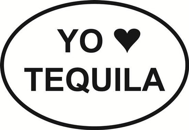 Amo Tequila decal from Oval Envy.  Great price for a durable vinyl decal.  We've got animals, beaches, dogs, cats and more!  Search our catalog for your next Euro Oval Decal.
