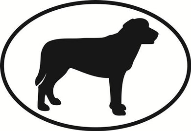 Labrador Retriever decal from Oval Envy.  Great price for a durable vinyl decal.  We've got animals, beaches, dogs, cats and more!  Search our catalog for your next Euro Oval Decal.