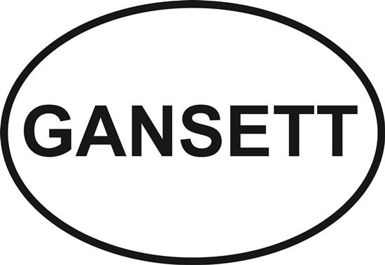 Gansett decal from Oval Envy.  Great price for a durable vinyl decal.  We've got animals, beaches, dogs, cats and more!  Search our catalog for your next Euro Oval Decal.