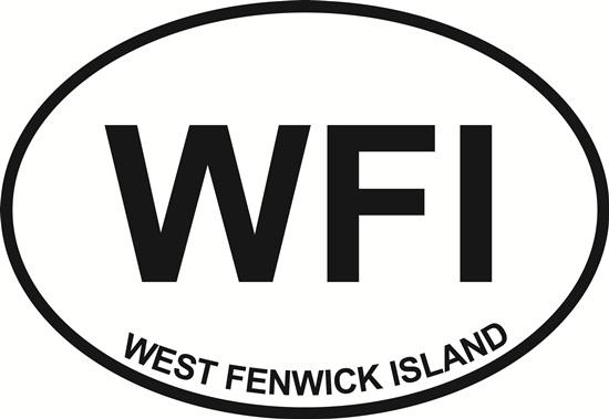 West Fenwick Island decal from Oval Envy.  Great price for a durable vinyl decal.  We've got animals, beaches, dogs, cats and more!  Search our catalog for your next Euro Oval Decal.
