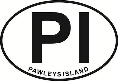 Pawleys Island decal from Oval Envy.  Great price for a durable vinyl decal.  We've got animals, beaches, dogs, cats and more!  Search our catalog for your next Euro Oval Decal.