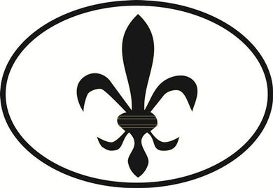 Fleur de Lis decal from Oval Envy.  Great price for a durable vinyl decal.  We've got animals, beaches, dogs, cats and more!  Search our catalog for your next Euro Oval Decal.