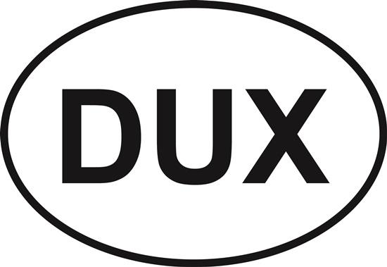 Duxbury decal from Oval Envy.  Great price for a durable vinyl decal.  We've got animals, beaches, dogs, cats and more!  Search our catalog for your next Euro Oval Decal.