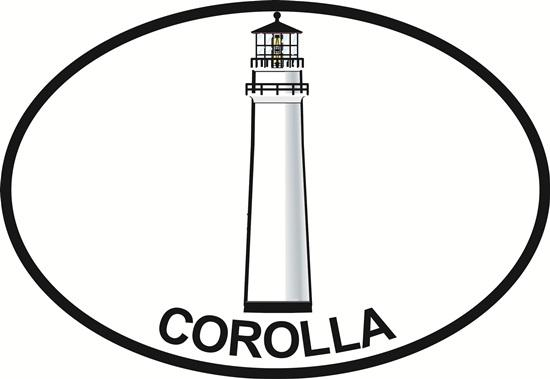 Corolla Light decal from Oval Envy.  Great price for a durable vinyl decal.  We've got animals, beaches, dogs, cats and more!  Search our catalog for your next Euro Oval Decal.