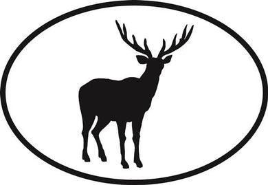Deer decal from Oval Envy.  Great price for a durable vinyl decal.  We've got animals, beaches, dogs, cats and more!  Search our catalog for your next Euro Oval Decal.