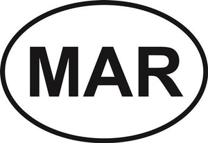 Marshfield decal from Oval Envy.  Great price for a durable vinyl decal.  We've got animals, beaches, dogs, cats and more!  Search our catalog for your next Euro Oval Decal.