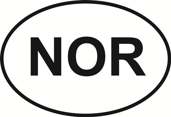 Norfolk decal from Oval Envy.  Great price for a durable vinyl decal.  We've got animals, beaches, dogs, cats and more!  Search our catalog for your next Euro Oval Decal.