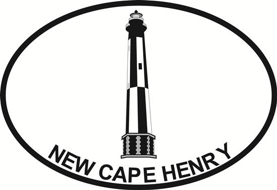 New Cape Henry Lighthouse decal from Oval Envy.  Great price for a durable vinyl decal.  We've got animals, beaches, dogs, cats and more!  Search our catalog for your next Euro Oval Decal.