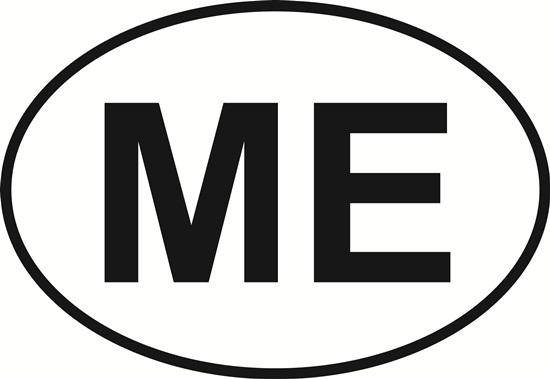 Maine (ME) decal from Oval Envy.  Great price for a durable vinyl decal.  We've got animals, beaches, dogs, cats and more!  Search our catalog for your next Euro Oval Decal.