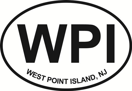 West Point Island decal from Oval Envy.  Great price for a durable vinyl decal.  We've got animals, beaches, dogs, cats and more!  Search our catalog for your next Euro Oval Decal.