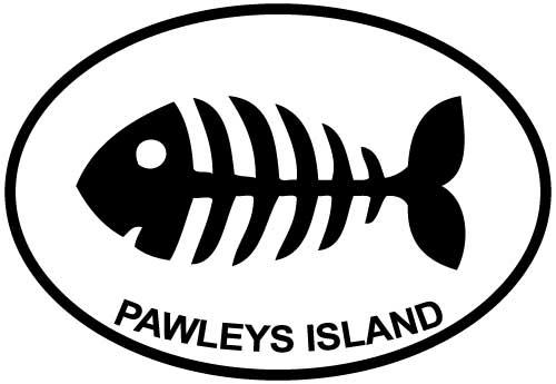 Pawleys Island Bone Fish decal from Oval Envy.  Great price for a durable vinyl decal.  We've got animals, beaches, dogs, cats and more!  Search our catalog for your next Euro Oval Decal.