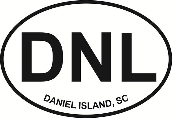 Daniel Island decal from Oval Envy.  Great price for a durable vinyl decal.  We've got animals, beaches, dogs, cats and more!  Search our catalog for your next Euro Oval Decal.