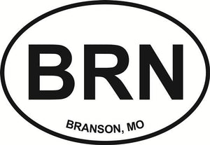 Branson decal from Oval Envy.  Great price for a durable vinyl decal.  We've got animals, beaches, dogs, cats and more!  Search our catalog for your next Euro Oval Decal.