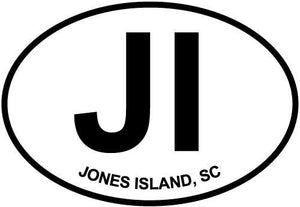 Jones Island decal from Oval Envy.  Great price for a durable vinyl decal.  We've got animals, beaches, dogs, cats and more!  Search our catalog for your next Euro Oval Decal.