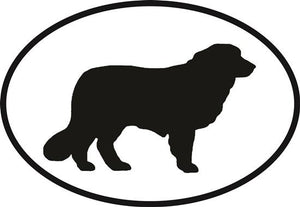 Great Pyrenees decal from Oval Envy.  Great price for a durable vinyl decal.  We've got animals, beaches, dogs, cats and more!  Search our catalog for your next Euro Oval Decal.
