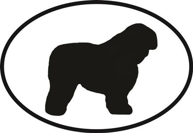 Old English Sheepdog decal from Oval Envy.  Great price for a durable vinyl decal.  We've got animals, beaches, dogs, cats and more!  Search our catalog for your next Euro Oval Decal.