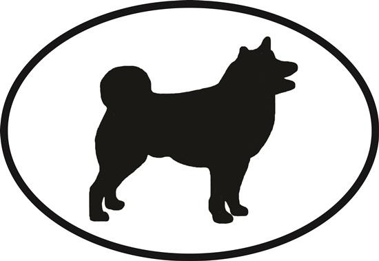 Shiba Inu decal from Oval Envy.  Great price for a durable vinyl decal.  We've got animals, beaches, dogs, cats and more!  Search our catalog for your next Euro Oval Decal.
