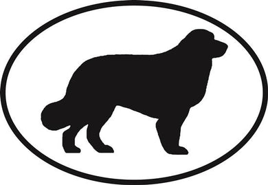 Bernese Mountain Dog decal from Oval Envy.  Great price for a durable vinyl decal.  We've got animals, beaches, dogs, cats and more!  Search our catalog for your next Euro Oval Decal.