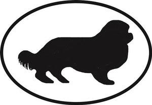 Cavalier King Charles Spaniel decal from Oval Envy.  Great price for a durable vinyl decal.  We've got animals, beaches, dogs, cats and more!  Search our catalog for your next Euro Oval Decal.