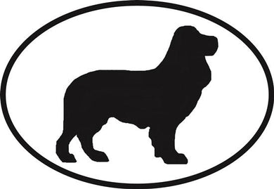 English Cocker Spaniel decal from Oval Envy.  Great price for a durable vinyl decal.  We've got animals, beaches, dogs, cats and more!  Search our catalog for your next Euro Oval Decal.