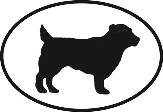 Norfolk Terrier decal from Oval Envy.  Great price for a durable vinyl decal.  We've got animals, beaches, dogs, cats and more!  Search our catalog for your next Euro Oval Decal.