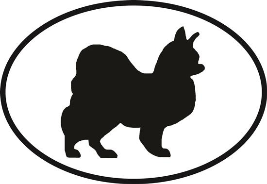 Papillon decal from Oval Envy.  Great price for a durable vinyl decal.  We've got animals, beaches, dogs, cats and more!  Search our catalog for your next Euro Oval Decal.