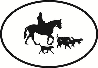 Hunting decal from Oval Envy.  Great price for a durable vinyl decal.  We've got animals, beaches, dogs, cats and more!  Search our catalog for your next Euro Oval Decal.