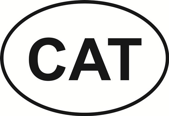 Cat (letters) decal from Oval Envy.  Great price for a durable vinyl decal.  We've got animals, beaches, dogs, cats and more!  Search our catalog for your next Euro Oval Decal.