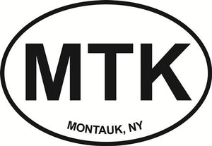Montauk decal from Oval Envy.  Great price for a durable vinyl decal.  We've got animals, beaches, dogs, cats and more!  Search our catalog for your next Euro Oval Decal.