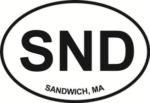 Sandwich decal from Oval Envy.  Great price for a durable vinyl decal.  We've got animals, beaches, dogs, cats and more!  Search our catalog for your next Euro Oval Decal.