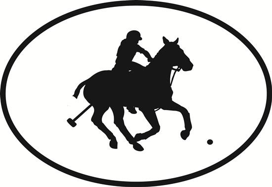 Polo (horse) decal from Oval Envy.  Great price for a durable vinyl decal.  We've got animals, beaches, dogs, cats and more!  Search our catalog for your next Euro Oval Decal.